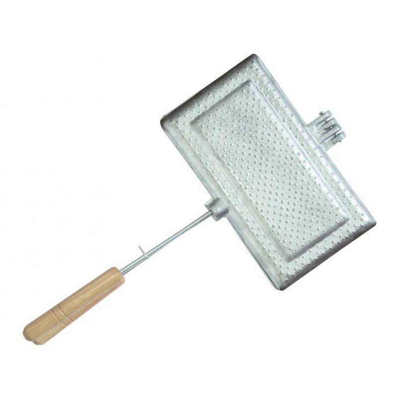 Sanduicheira Tostex Bauru de Alumínio para Fogão Pão de Forma Duplo