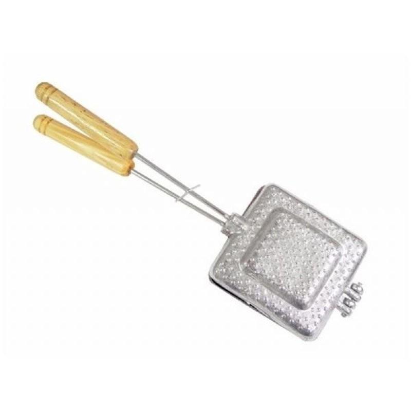 Sanduicheira Tostex Bauru de Alumínio para Fogão Pão de Forma Simples