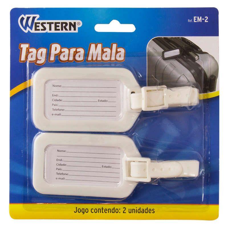 Tag para Mala de Viagem Etiqueta Western EM-2