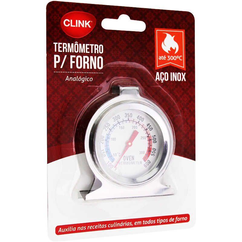 Termômetro para Forno a Gás, Elétrico, a lenha e churrasqueira Clink CK2056