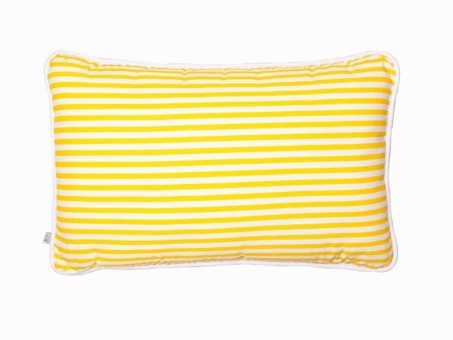 Almofada Retangular Listras Amarelas