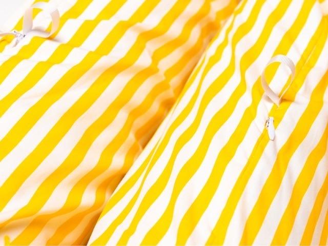 CAPA Almofada Protetora Multifuncional - Listras Amarelas