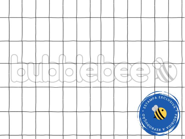 Edredom Berço - Estampado Grid PB