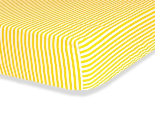 Lençol Júnior Listras Amarelas