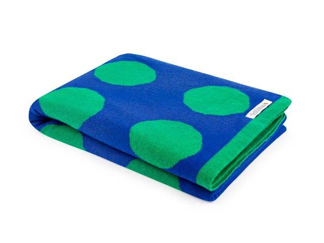 Manta Bolota Azul e Verde dupla face