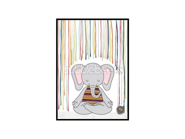 Pôster Elefante Yogini