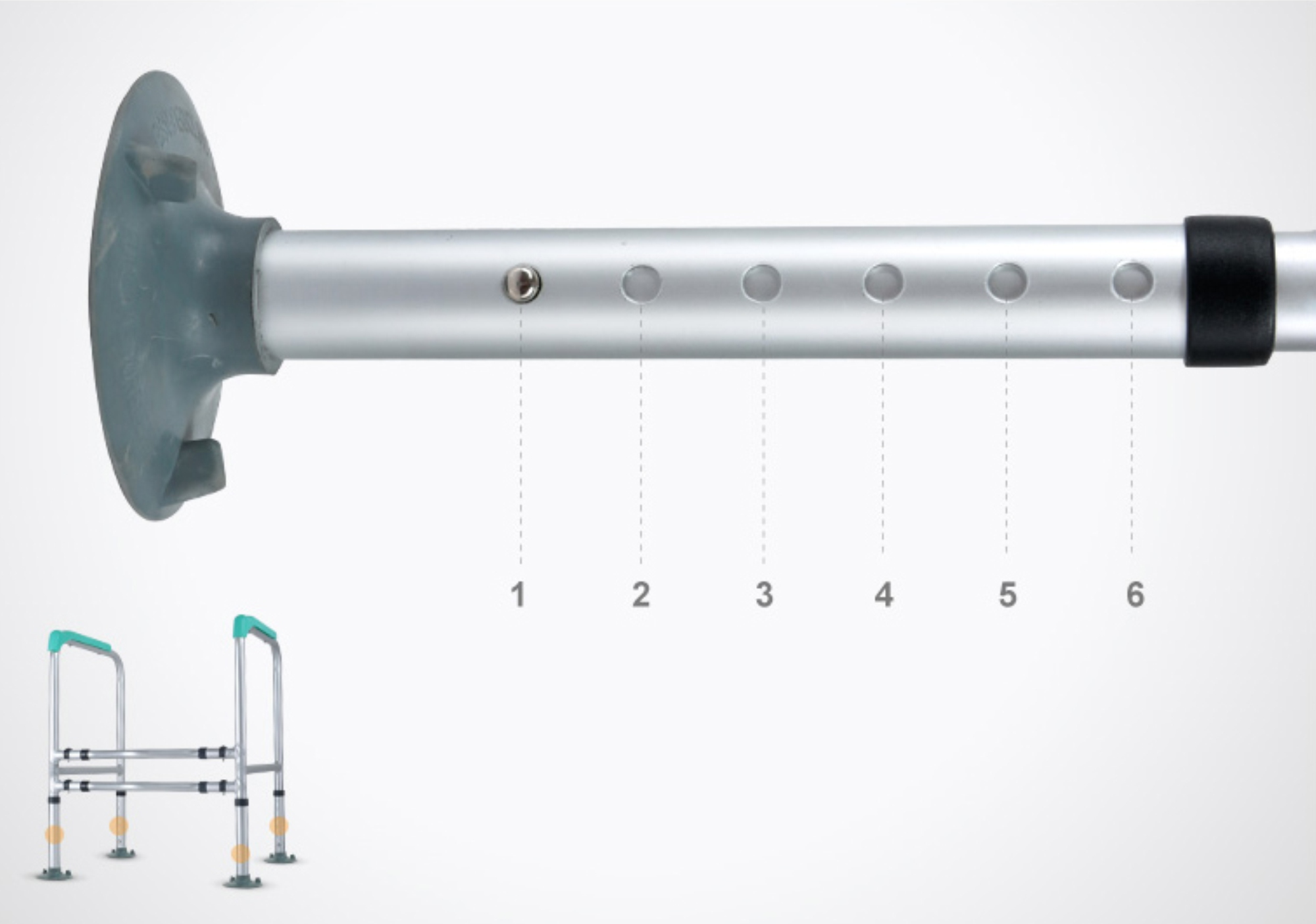 Barra de apoio para vaso sanitário FST1210