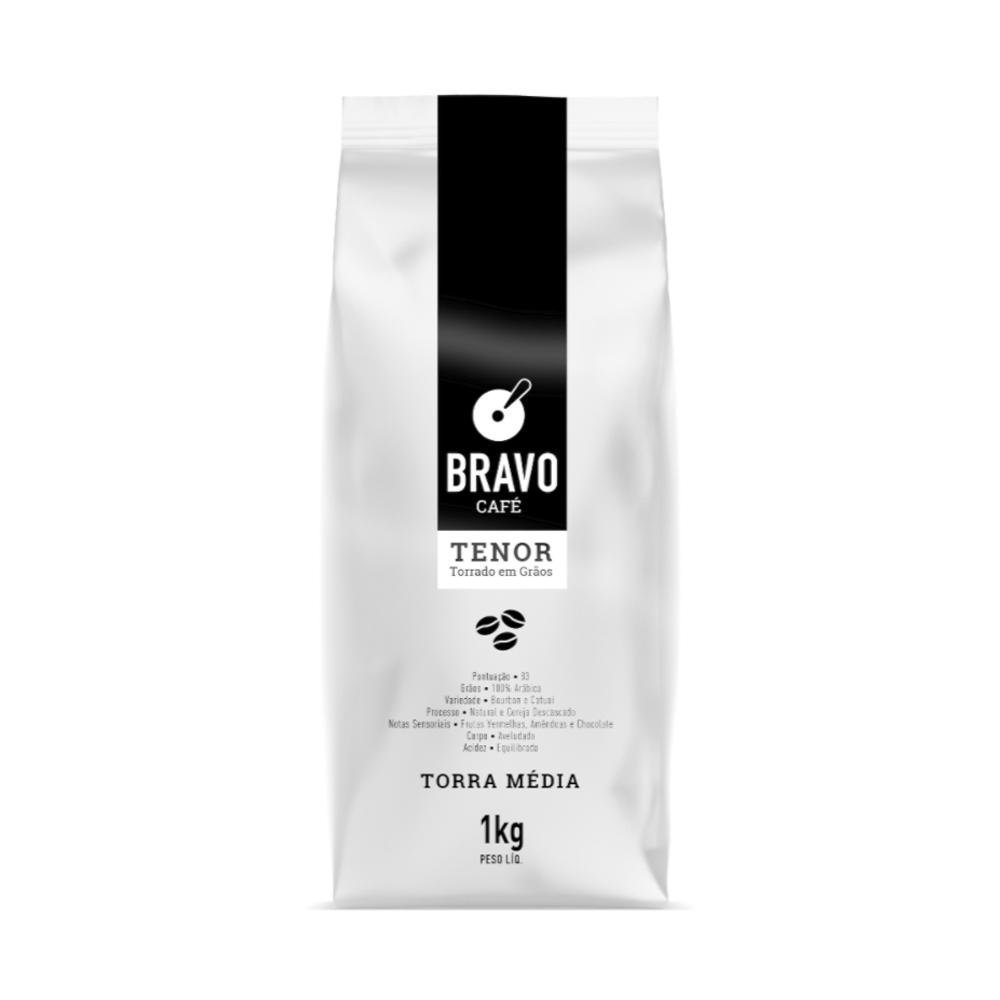 Café Bravo Gourmet em Grãos Tenor - 1kg