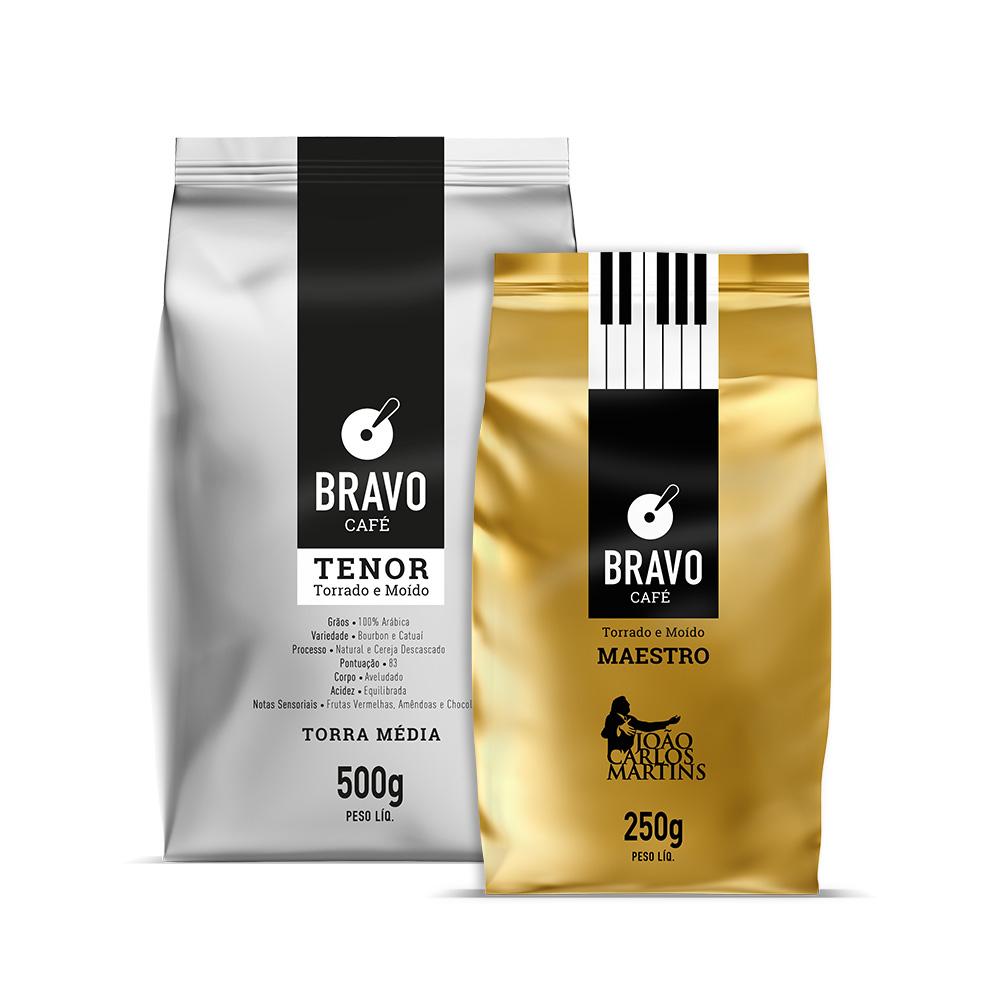 Kit 2 Café Bravo Goumert - Tenor 500g + Maestro 250g