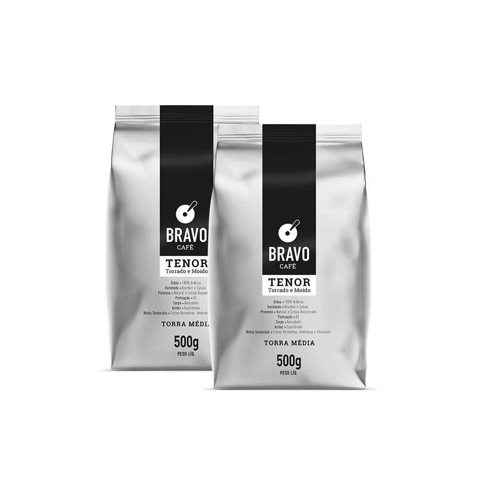Kit 2 Café Bravo Gourmet Tenor - Moído 500g