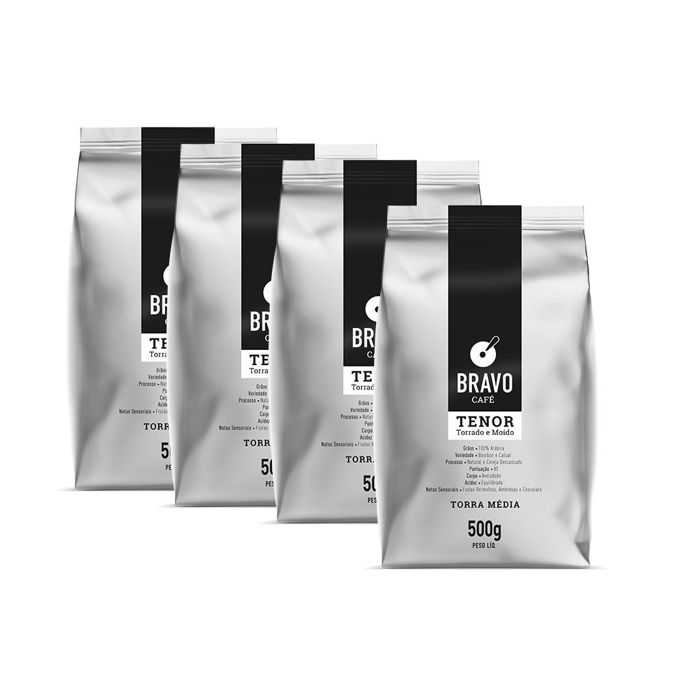 Kit 4 Café Bravo goumert - Tenor 500g