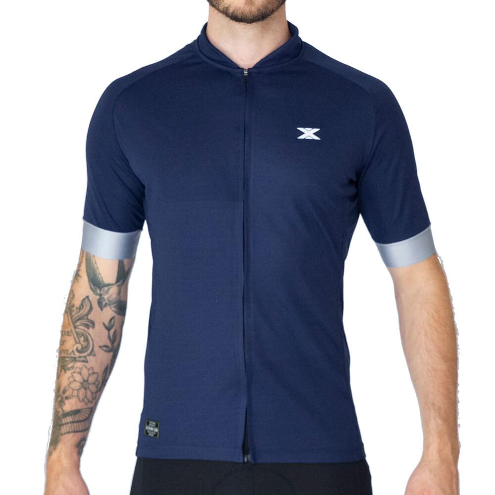 Camisa Ciclismo DX3 Fusion 05 Marinho/Cinza Masculina