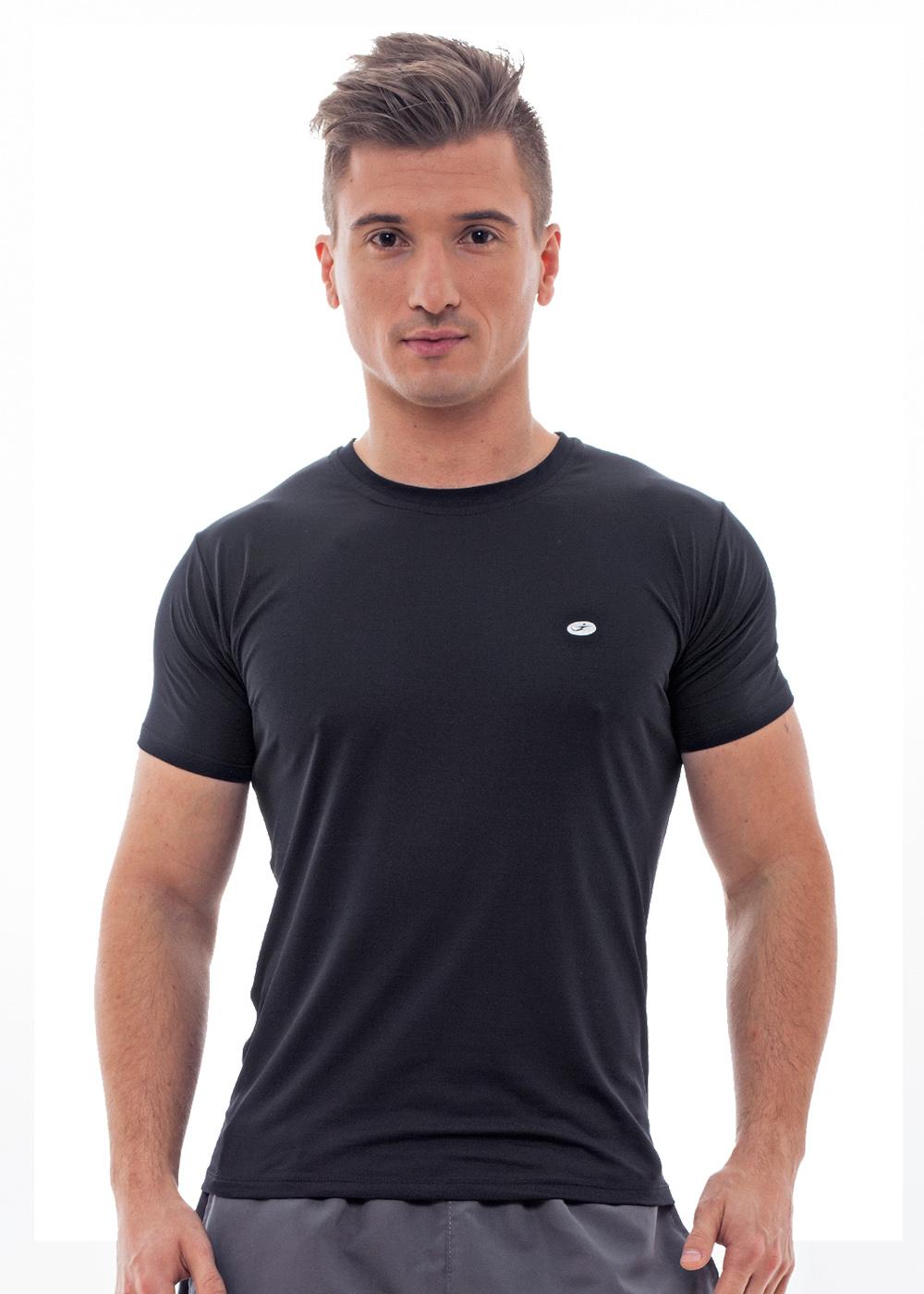 Camiseta c/ Detalhe Just Fit Preto Unissex