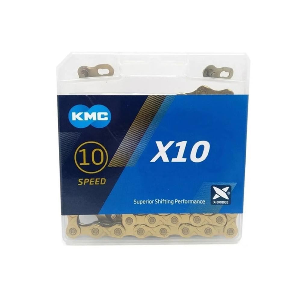 Corrente KMC 10V X10 TI-Dourado 116 Elos