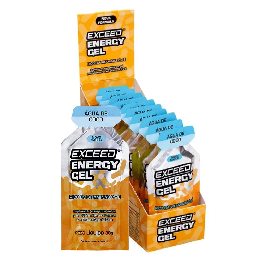 Gel de Carboidrato Exceed Energy Água de Coco Sache 10 unid