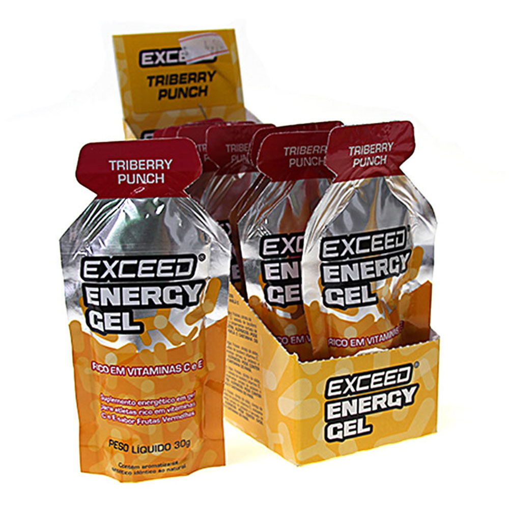 Gel de Carboidrato Exceed Energy Triberry Punch Sache 10 Unid