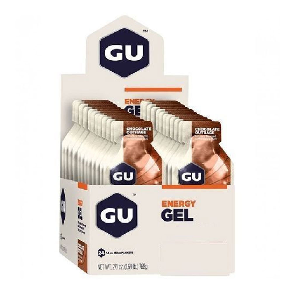 Gel de Carboidrato Gu Energy Chocolate Sache 12 Unidades