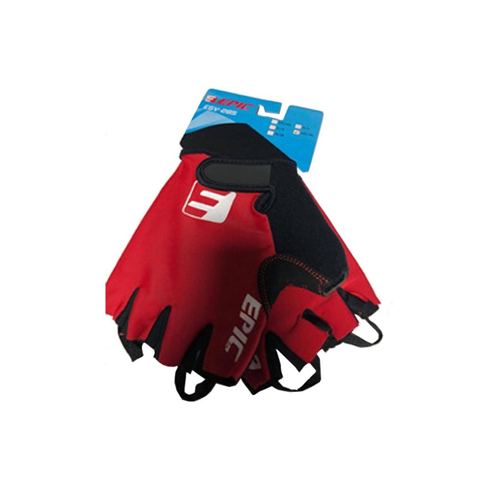 Luva Ciclismo Epic Line EGV-285 Dedo Curto Vermelha