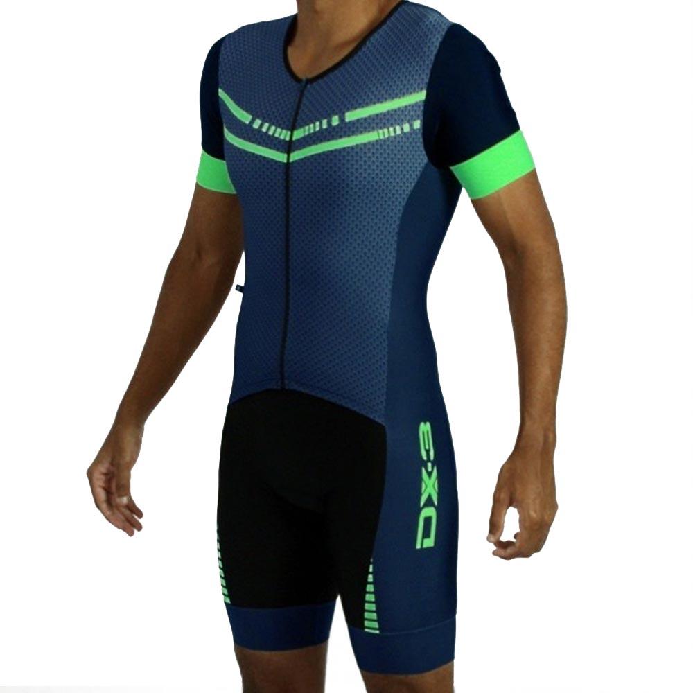 Macaquinho de Triathlon DX3 Marinho e Verde Masculino Adulto