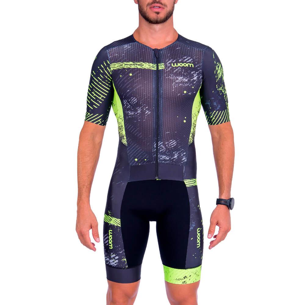 Macaquinho Triathlon Woom Linha 140 Phantom Verde Masculino