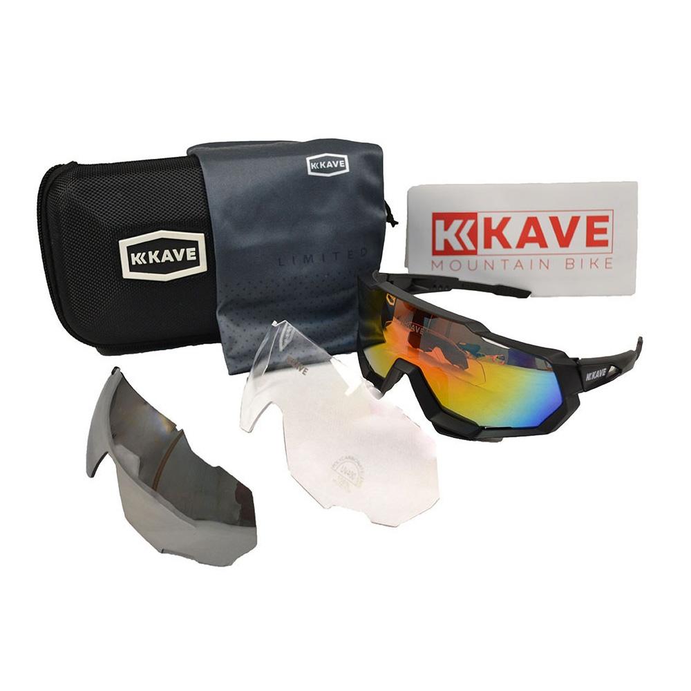 Óculos Ciclismo Kave Revo 3 Lentes