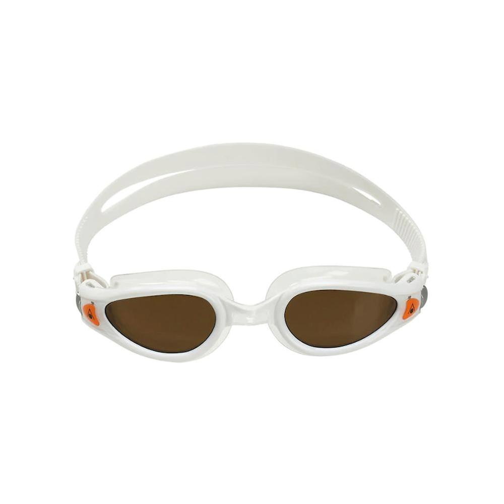 Óculos Natação Aqua Sphere Kaiman Exo Branco Lente Polarizada