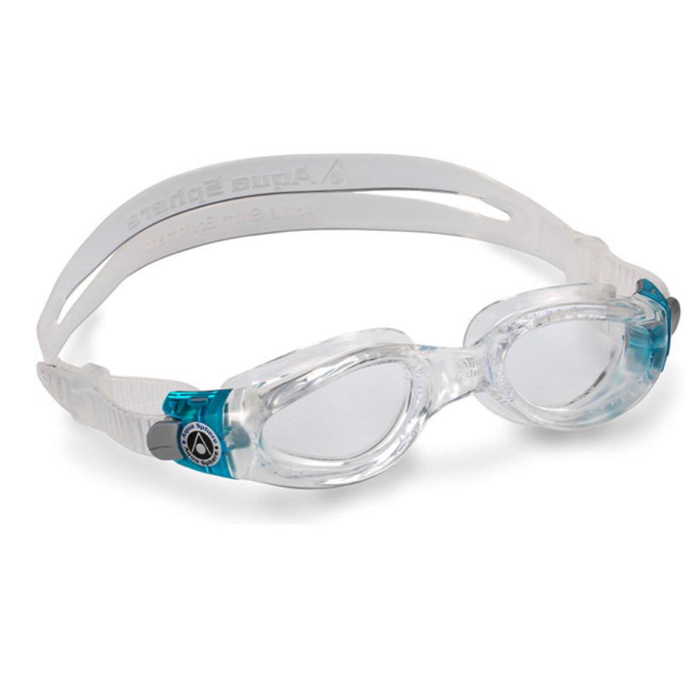 Óculos Natação Aqua Sphere Kaiman Lady Turquesa Lente Transp
