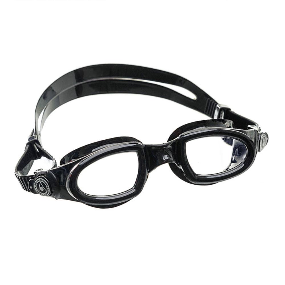Óculos Natação Aqua Sphere Mako Preto Lente Transparente