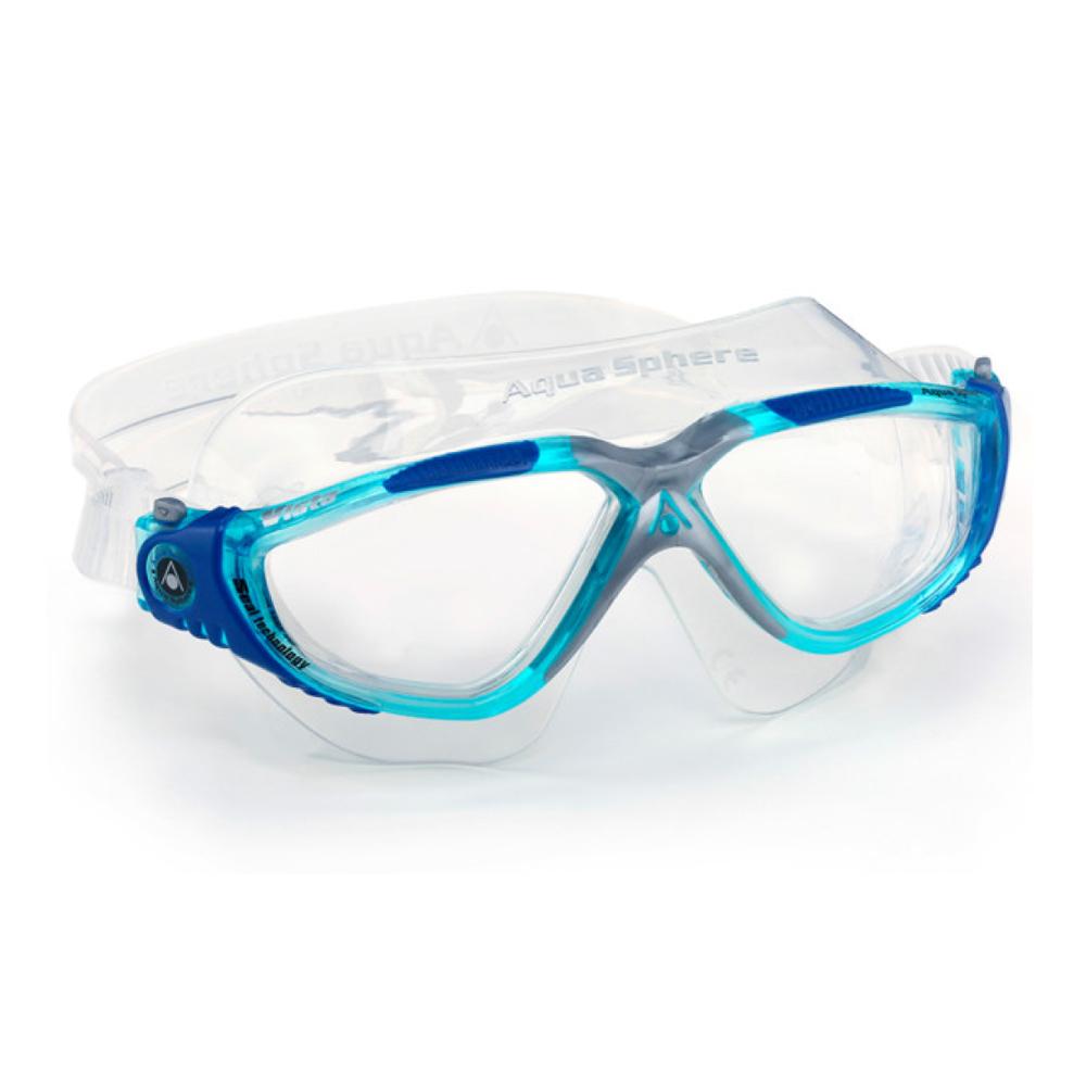 Óculos Natação Aqua Sphere Vista Turquesa Lente Transp