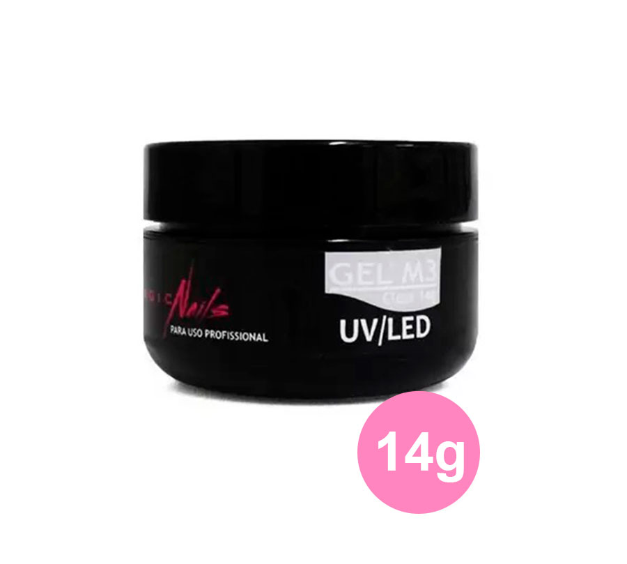 Gel Para Unhas Magic Nails M3 Transparente LED/UV 14g