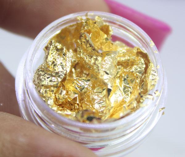 Kit Com 12 Folha De Ouro Dourado E Prata