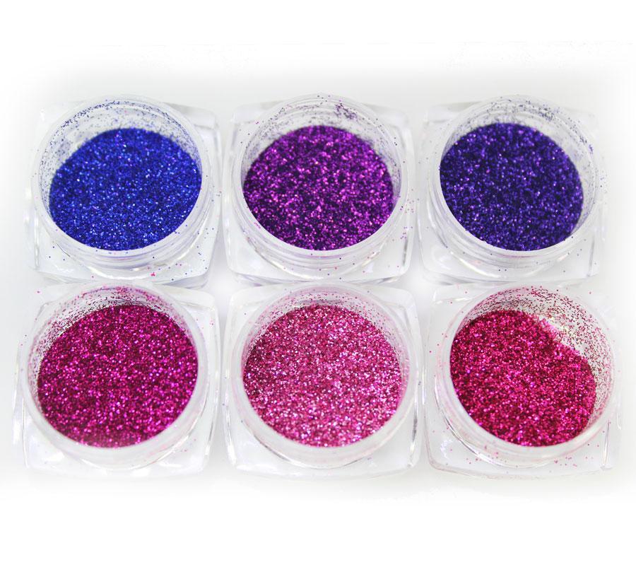 Kit Com 6 Glitter Colorido Fine luxury #1