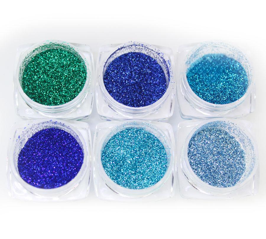 Kit Com 6 Glitter Colorido Fine luxury #2
