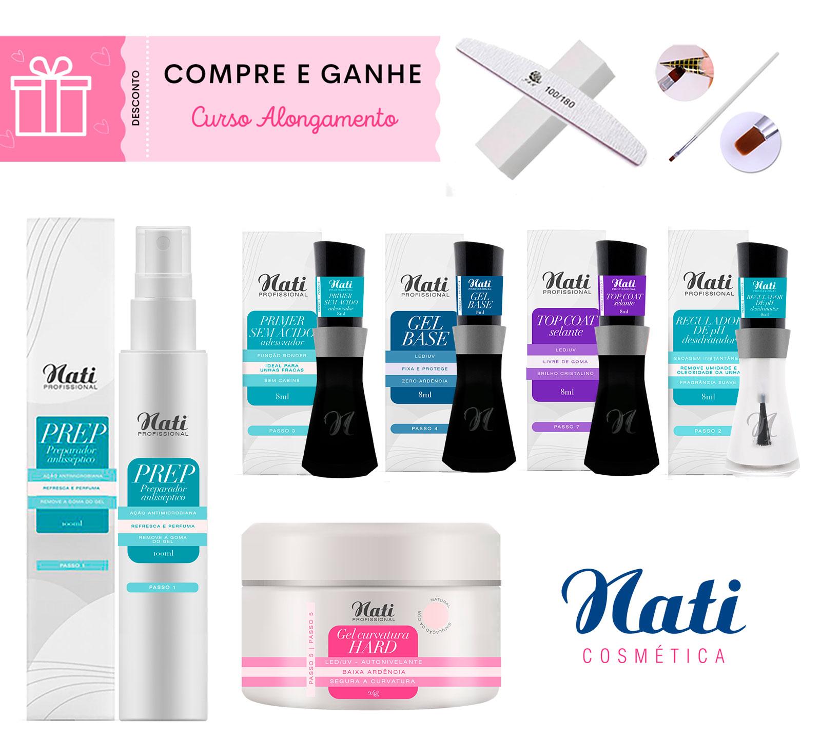 Kit Unhas de Gel Nati cosméticos