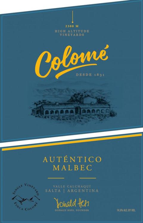 VINHO ARGENTINO COLOMÉ MALBEC AUTÉNTICO 2019