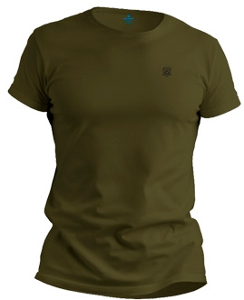 Camiseta básica verde musgo