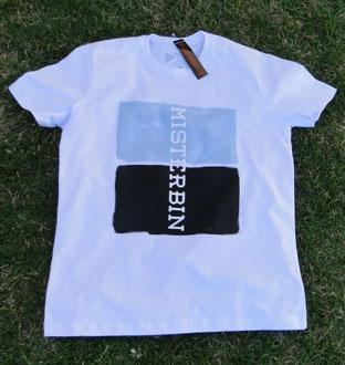 Camiseta Misterbin Duas cores malha premium 100% algodão