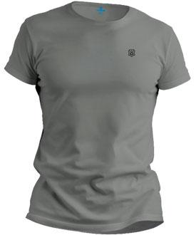 Camiseta básica cinza