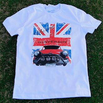 Camiseta Misterbin Masculina Mini branca malha premium 100% algodão