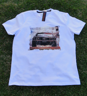 Camiseta Misterbin Mustang branca malha premium 100%algodão