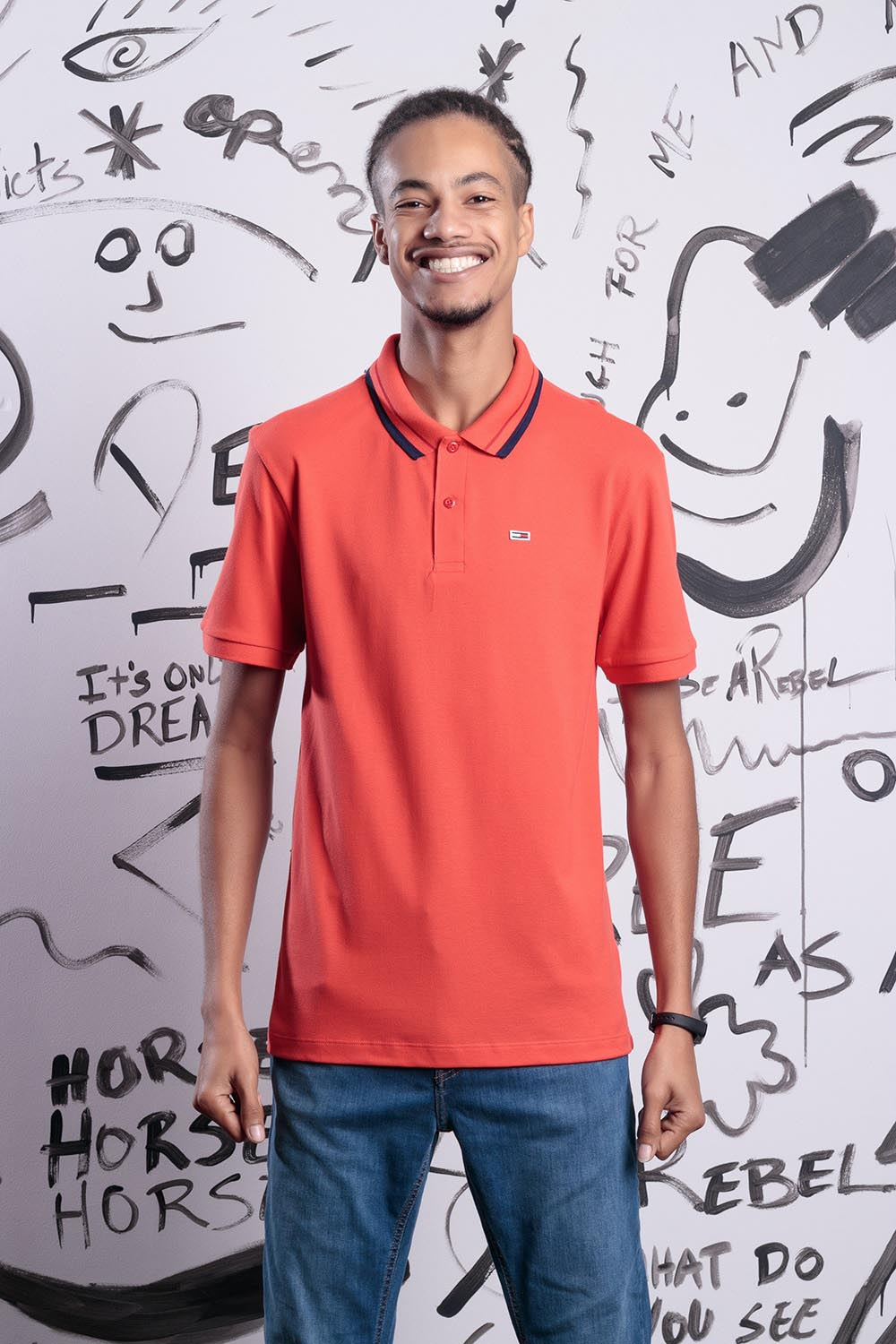 POLO TOMMY JEANS CLASSICS TIPPED STRETCH