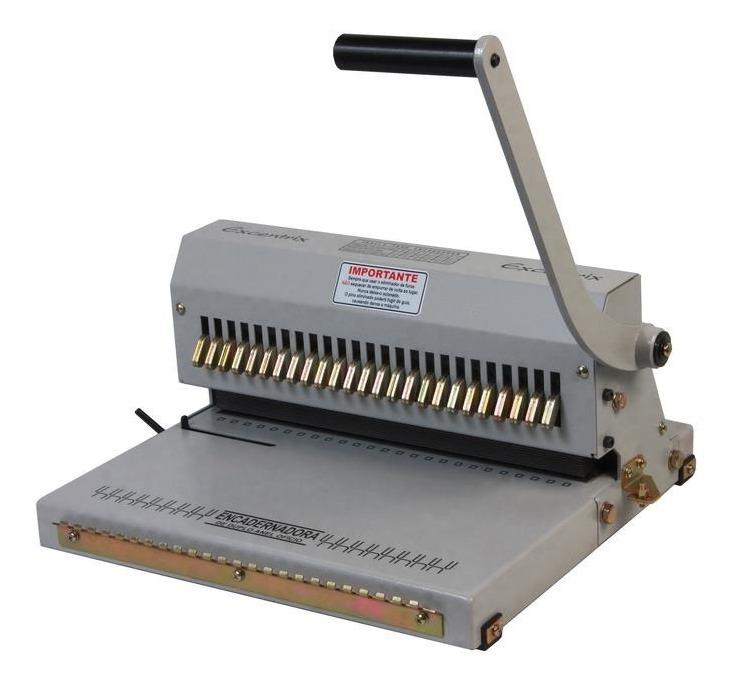 Encadernadora Para Wire-O conjugada com fechadora e eliminador de furos passo 3X1 para até 110 folhas