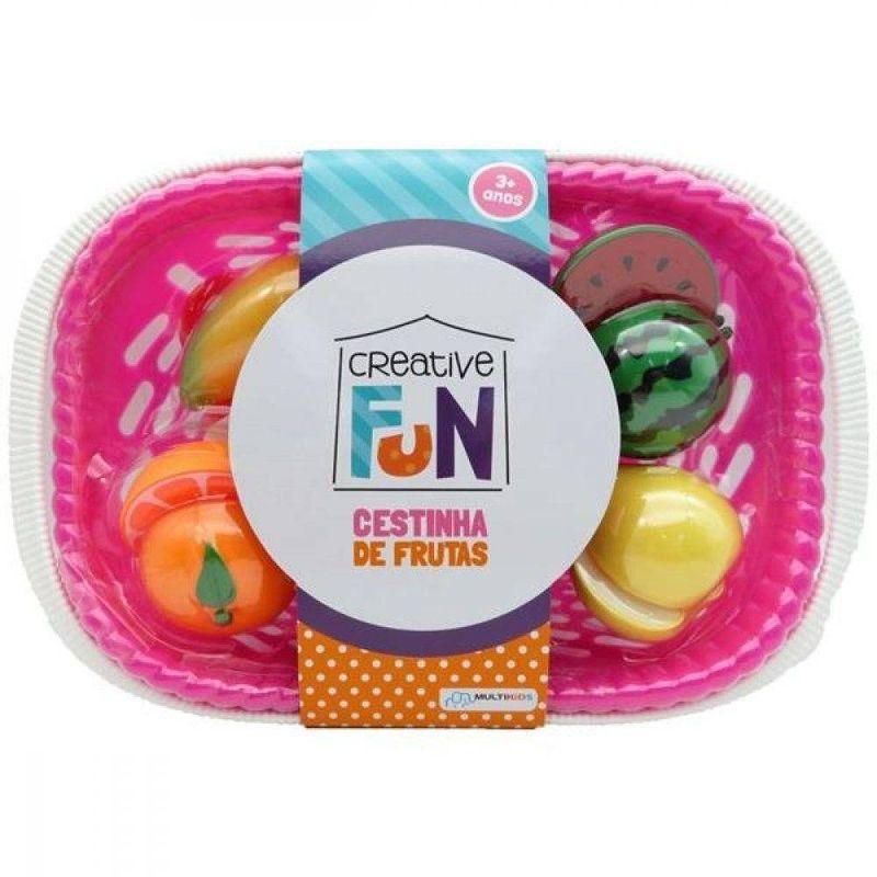 Creative Fun Cestinha De Frutas Multikids - BR1114 Rosa