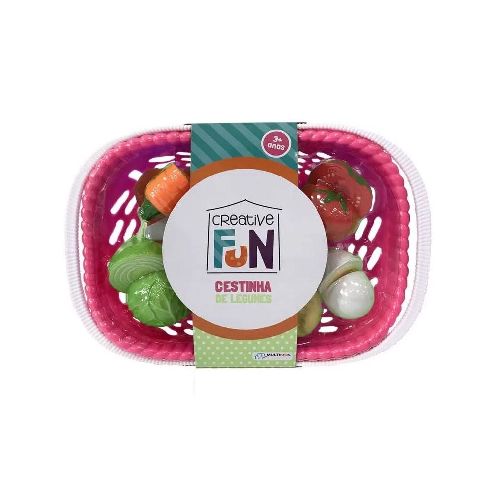 Creative Fun Cestinhas de 6 Legumes Multikids - BR1113 Rosa