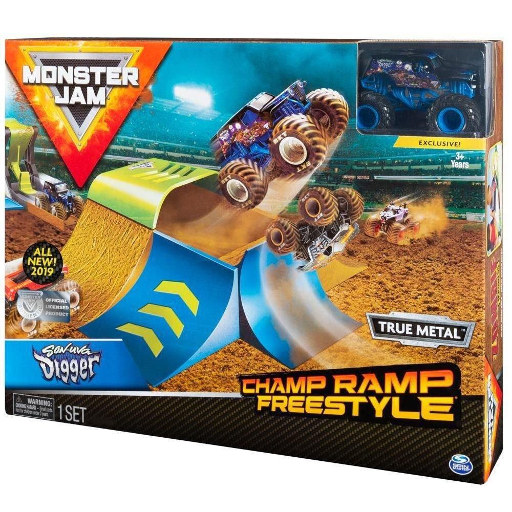 Playset com Rampa e Veículo Escala 1:64 Monster Jam Sunny Zombie Madness