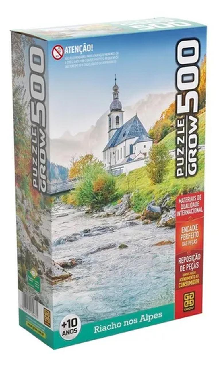 Quebra-cabeças 500 peças Riacho nos Alpes Puzzle