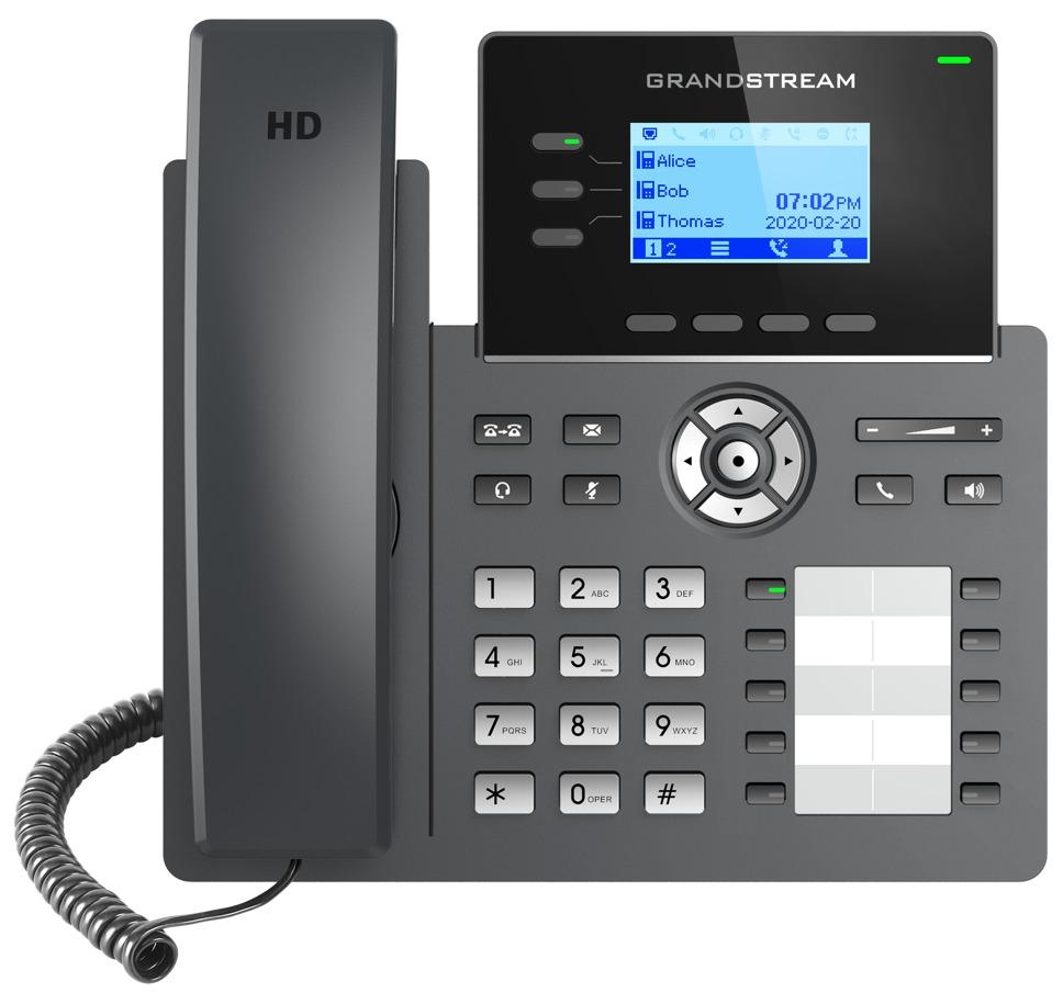 GRANDSTREAM GRP2604 - TELEFONE IP 3 LINHAS COM POE GIGABIT