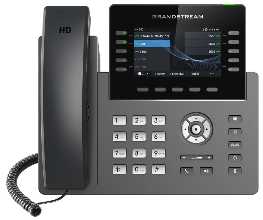 GRANDSTREAM GRP2615 - TELEFONE IP 5 LINHAS COM POE GIGABIT COM WIFI