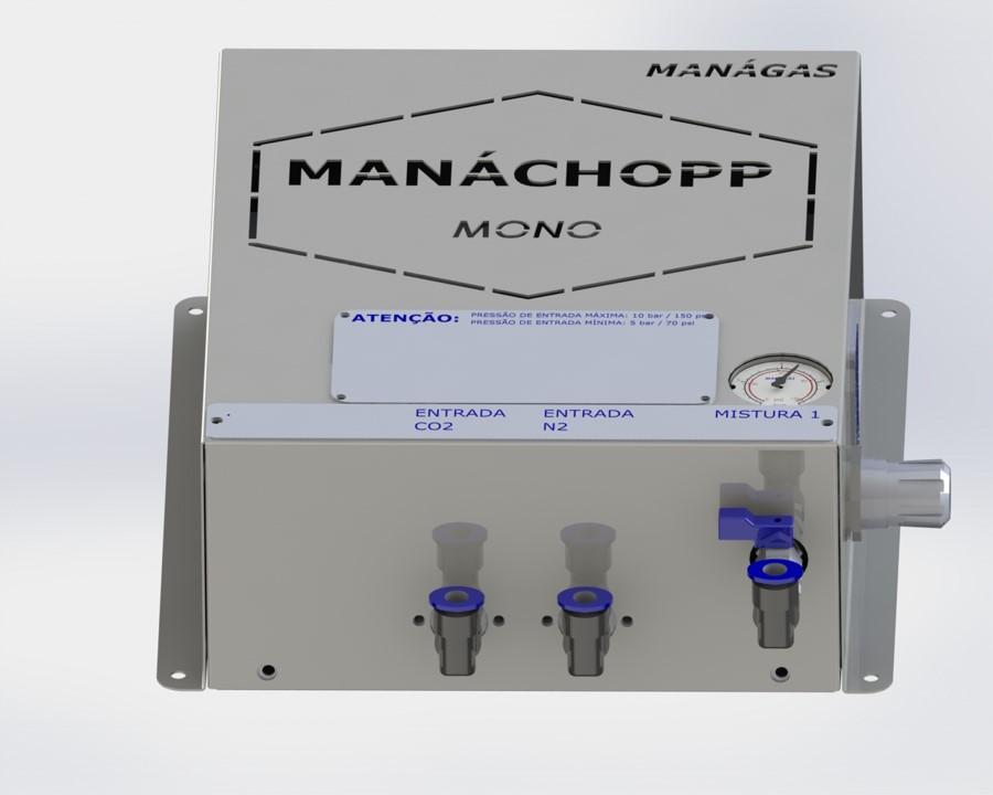 Mistura de CO2 e Nitrogênio para chopp - Misturador de Gases - MANÁCHOPP® MONO - modelo com 1 saída de mistura de gases