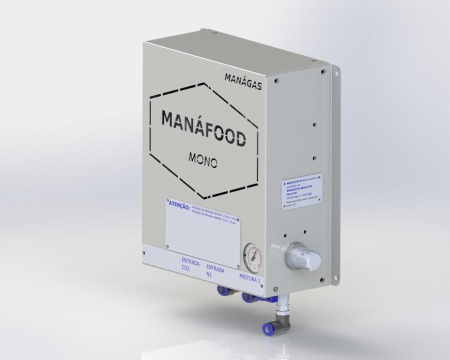 Atmosfera modificada em alimentos - Conservação de alimentos - Misturador de Gases - MANÁFOOD® MONO - modelo com 1 saída de mistura de gases